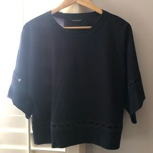 Club Monaco Newlah top in navy